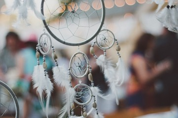Close-up Of Dreamcatcher Hanging During Wedding Ceremony