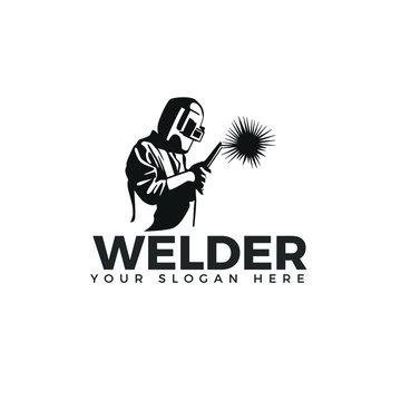 Welding logo company logo design, WELDER LOGO SIMPLE AND CLEAN LOGO