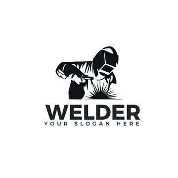 Welding company logo design, WELDER LOGO SIMPLE AND CLEAN LOGO