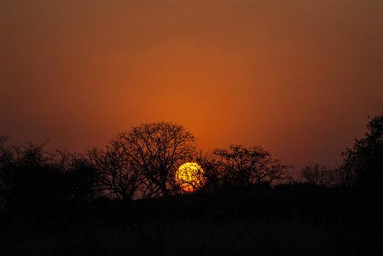 Sunset at Matobo National Parks Bulawayo