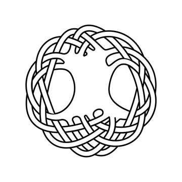 Yggdrasil Tree of Life, Scandinavian, Celtic symbol, ornamental design