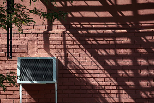 Air Duct On Wall With Shadow
