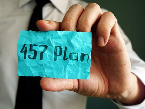The inscription 457 Plan for your blog.