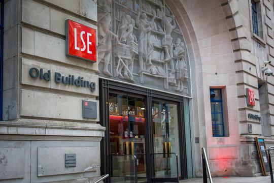 London- London School of Economics Old Building in central London, a prestigious British University