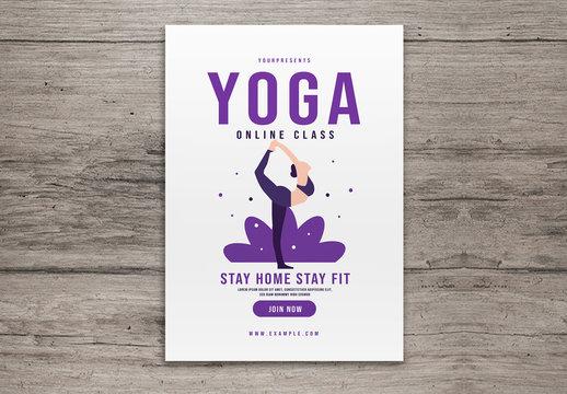 Yoga Online Class Flyer Layout