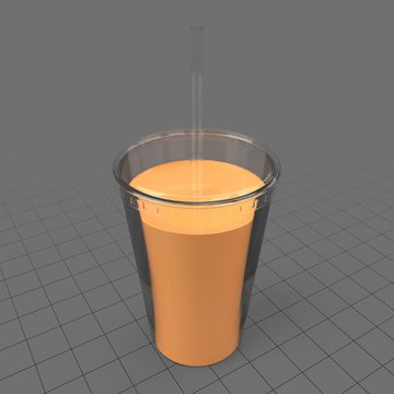Juice in plastic cup