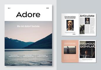 Minimal Magazine Layout