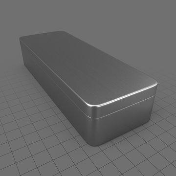Rectangular metal tin can 1