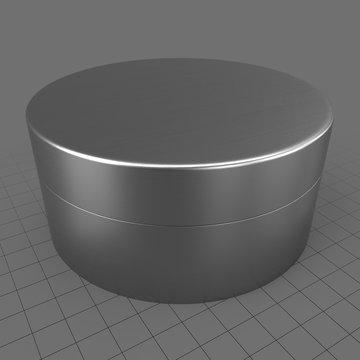Round metal tin can 2