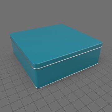 Square metal tin can 2