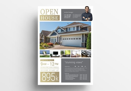 Real Estate Open House Poster Layout
