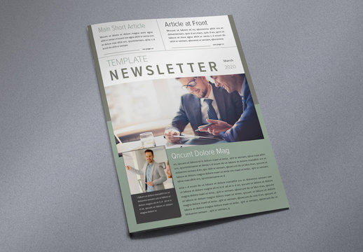 Corporate Newsletter with Green and Brown Accents