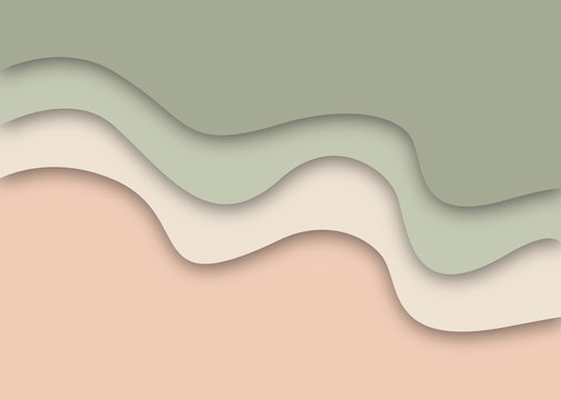 Abstract background soft natural tones cut out paper
