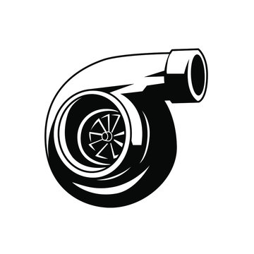 Car accelerator, booster, blow. Icon, logo. Flat lay, top view