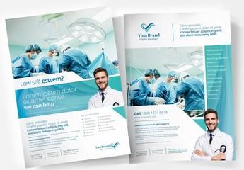 Blue & White Medical Poster for Hospitals