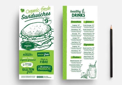 Sandwich Shop Menu Flyer Layout