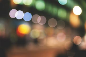 Defocused Image Of City Lights