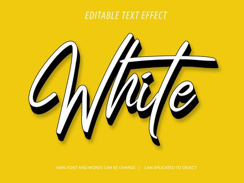 editable 3d script text effect mockup