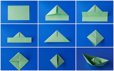 Origami Little Boat Instructions | Free Printable Papercraft ... | 240x384