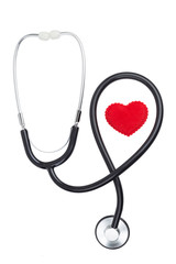 heart symbol with a stethoscope