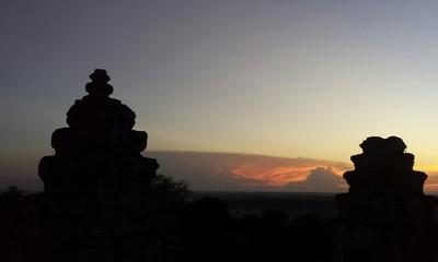 Fototapeta Silhouette Of Trees Against Sky At Sunset obraz
