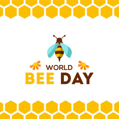 Canvas Prints Geometric animals World Bee Day Vector Design Illustration For Celebrate Moment