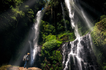 Wall Mural - Sekumpul waterfalls in Munduk