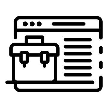 Application window portfolio icon. Outline application window portfolio vector icon for web design isolated on white background