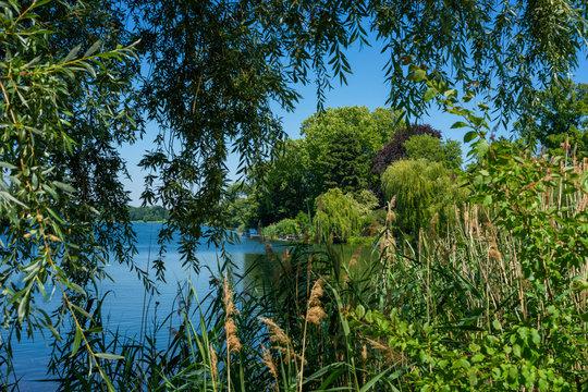 The Heiliger See between Potsdam and the Berlin-Vorstadt (Brandenburg + Berlin/ Germany) in the summer of 2019.