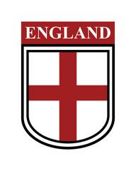 Badge of England isolated illustration