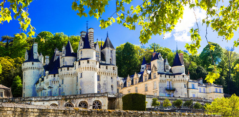 Beautiful fairy tale Usse castle - famous castles of Loure valley, France