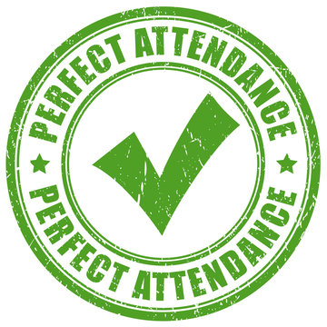 Green stamp perfect attendance