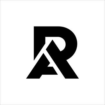 Initial letter ra or ar logo vector design template