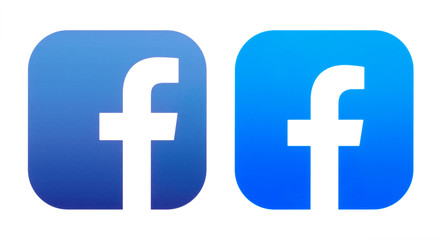 Old and New icons of Facebook App