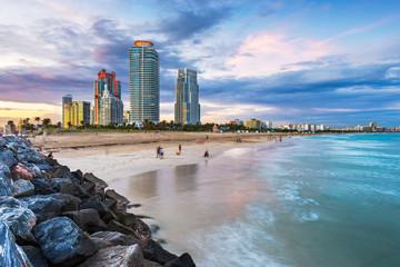 Fototapete - Miami, Florida at South Beach