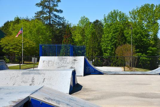 Empty Skateboard Park during Coronavirus Pandemic
