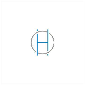 Initial letter h logo vector templates