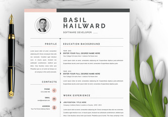 Creative Resume Layout with Photo