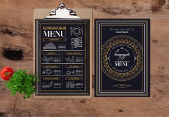 Restaurant Flourish Menu Layout