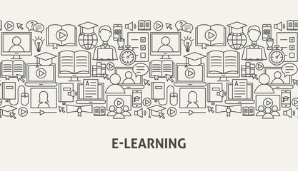 E Learning Banner Concept
