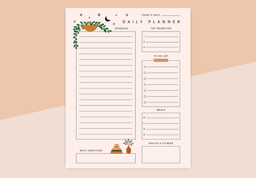 Plant Daily Planner Layout