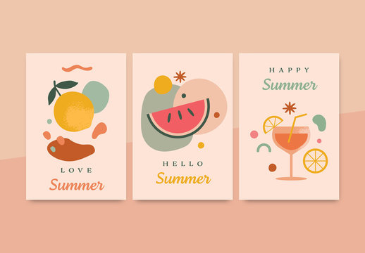 Summer Greeting Cards Layout
