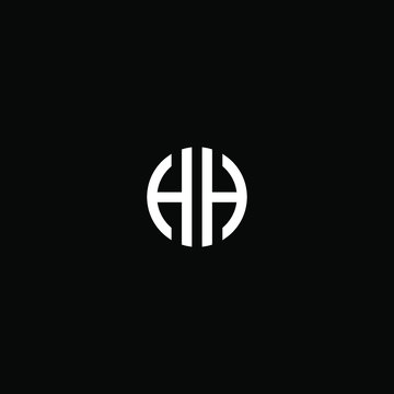 hh letter vector logo abstract
