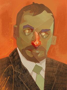 Portrait homme d'affaire
