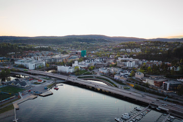 The South Norwegian town Sandvika