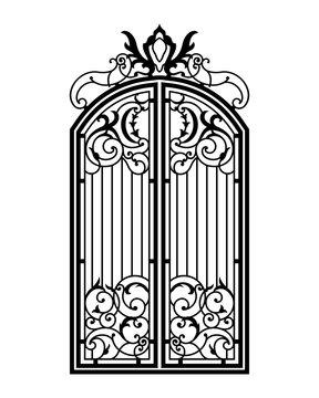 Closed Forged Ornate Gate.