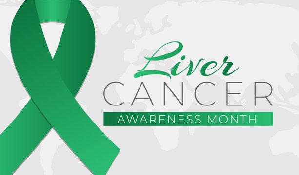 Liver Cancer Awareness Month Background Illustration Banner