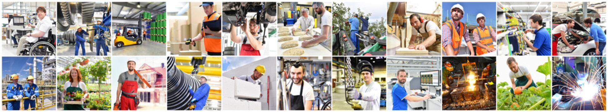 Berufe in der Industrie und Handwerk - Arbeiter am Arbeitsplatz // Professions in industry and trade - Workers at the workplace