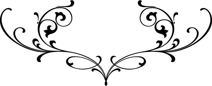 Tattoo scroll design