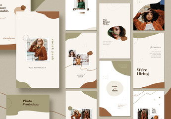 20 Organic Fashion Social Media Post Layouts